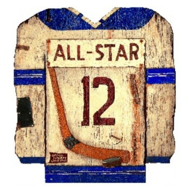 Custom Hockey Jersey Vintage Style Metal Sign