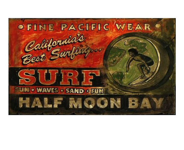 Custom Surf Shop Vintage Style Metal Sign