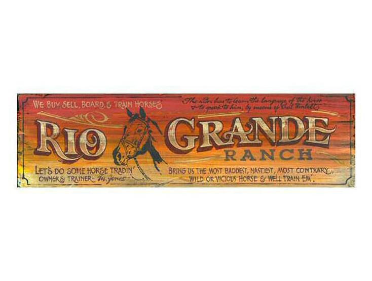 Custom Rio Grande Ranch Vintage Style Metal Sign