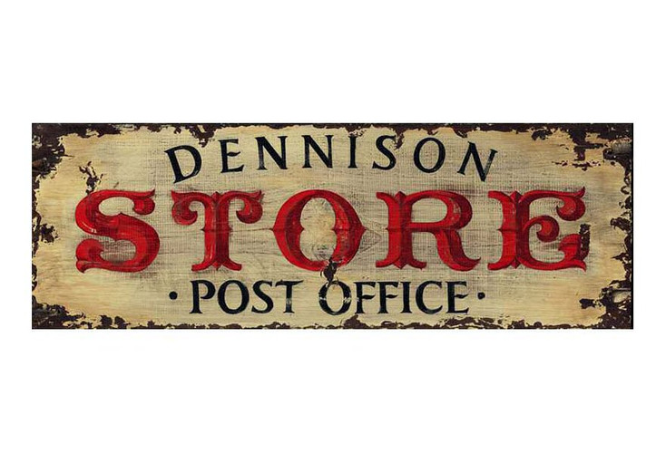 Custom Dennison Store Post Office Vintage Style Metal Sign