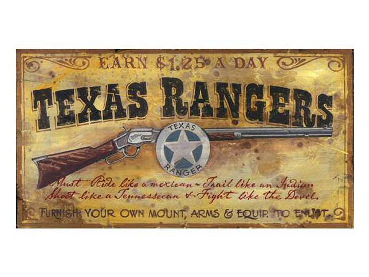 Custom Texas Rangers Vintage Style Metal Sign
