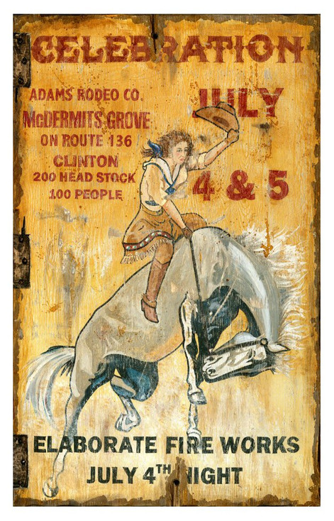 Custom Celebration Adams Rodeo Co. Vintage Style Metal Sign