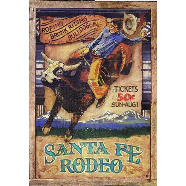 Custom Santa Fe Rodeo Vintage Style Metal Sign