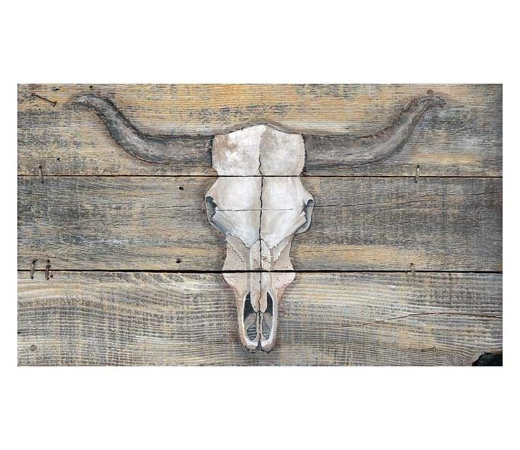 Cattlemans Skull Vintage Style Metal Sign