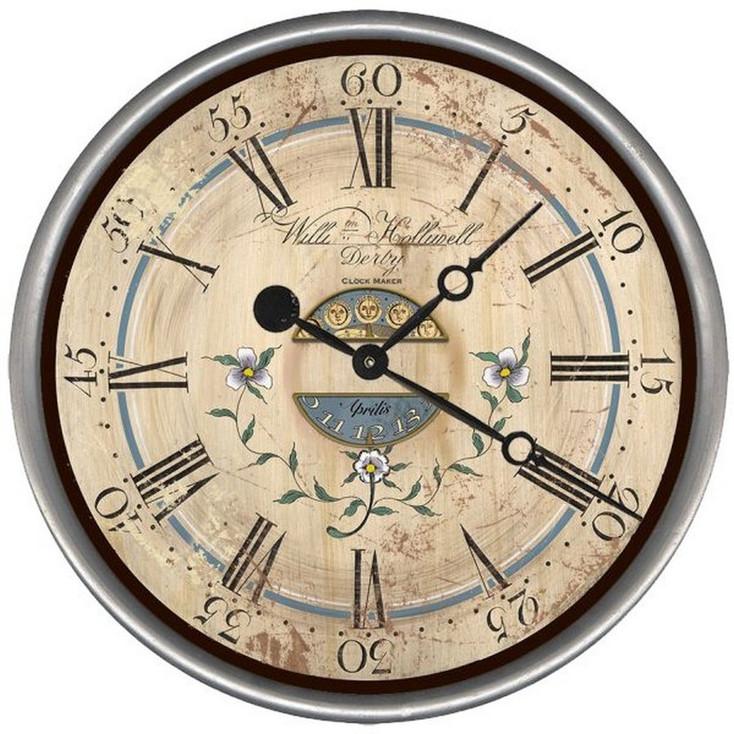 "15"" Custom Violets Vintage Style Wood Sign Wall Clock"