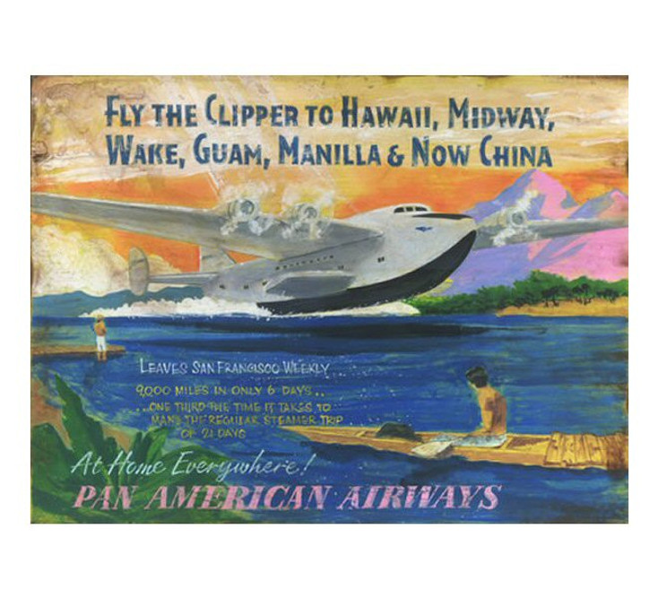 Custom Flying Clipper Vintage Style Wooden Sign
