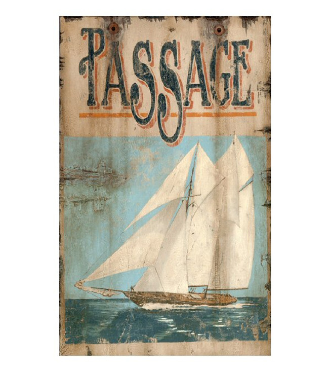 Custom Passage Sailboat Vintage Style Wooden Sign