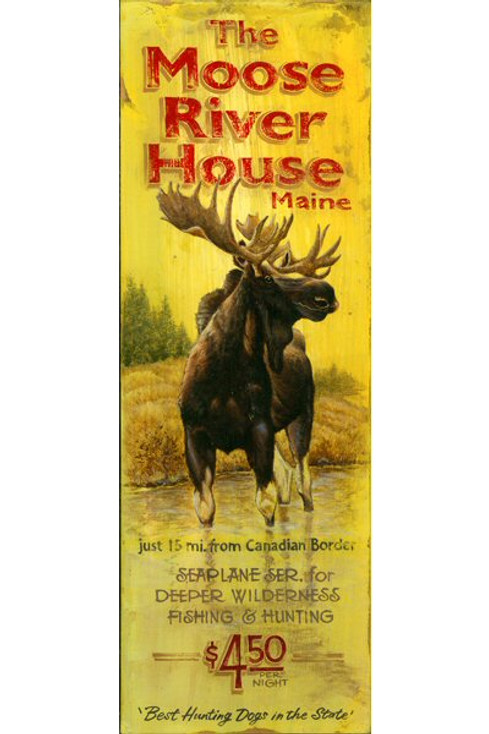 Custom The Moose River House Maine Vintage Style Wooden Sign