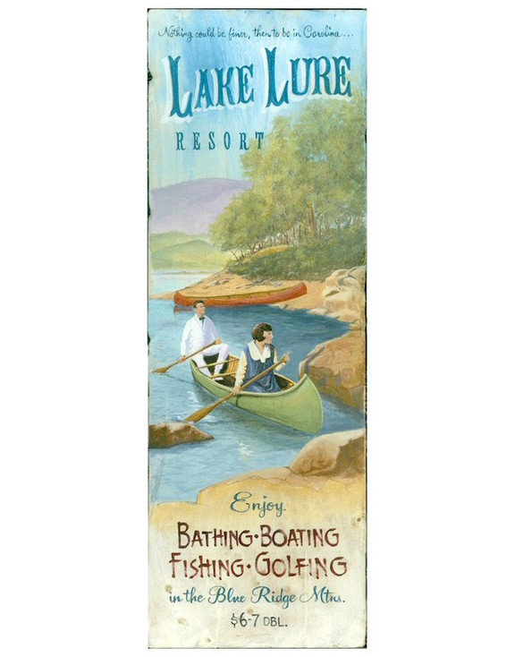 Custom Lake Lure Resort Vintage Style Wooden Sign