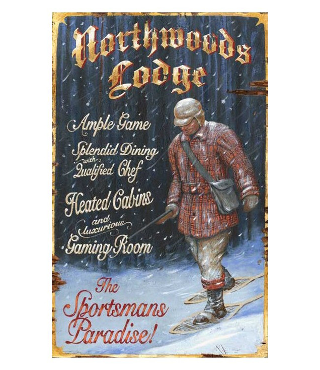 Custom Northwoods Lodge Vintage Style Wooden Sign