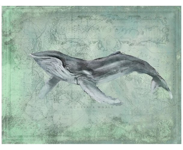 Custom Humpback Whale Vintage Style Wooden Sign