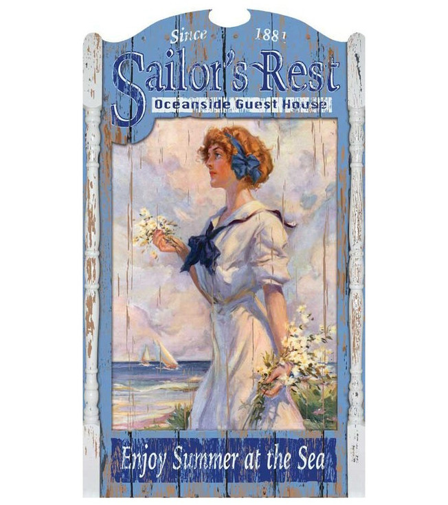 Custom Sailors Rest Guest House Vintage Style Wooden Sign
