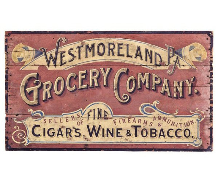 Custom Westmoreland Grocery Company Vintage Style Wooden Sign