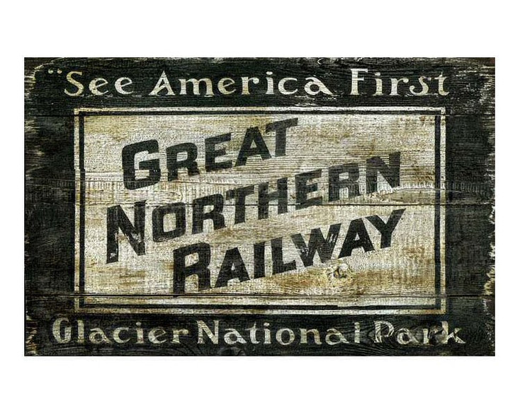 Custom Great Northern Railway Vintage Style Wooden Sign
