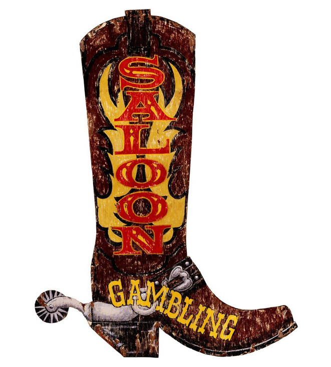 Custom Boot Saloon Vintage Style Wooden Sign