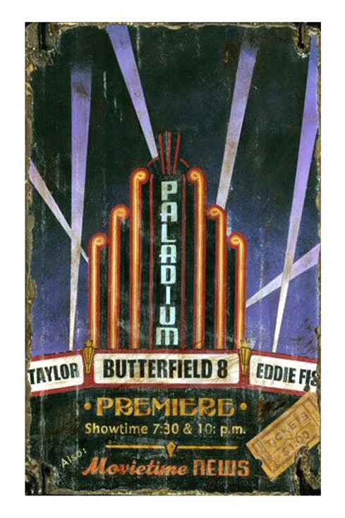 Custom Paladium Theater Vintage Style Wooden Sign