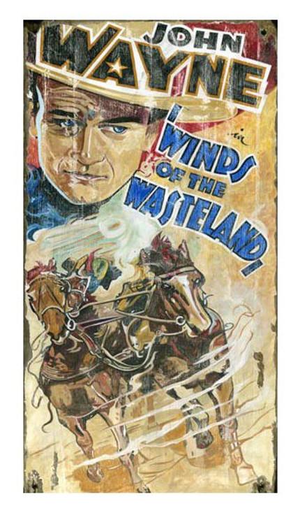 Custom John Wayne Winds of the Wasteland Vintage Style Wood Sign