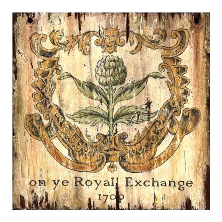 Custom Artichoke 1700 Royall Exchange Vintage Style Wooden Sign