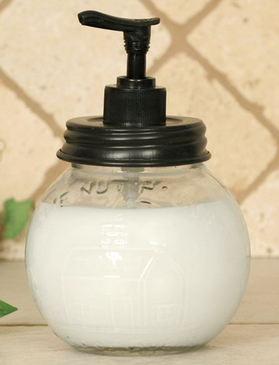 The Nut House Glass Soap Dispenser