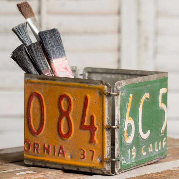 Metal License Plate Box