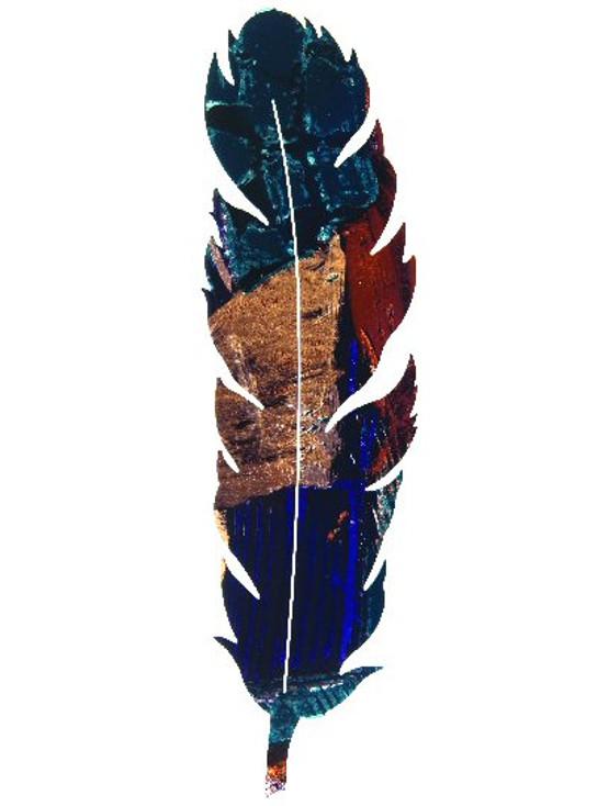 "14"" Feather Leaf Metal Wall Art by Kevin Fletcher"