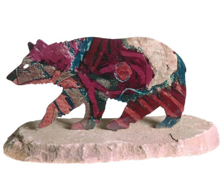 Bear Extra Large Metal Rock Art