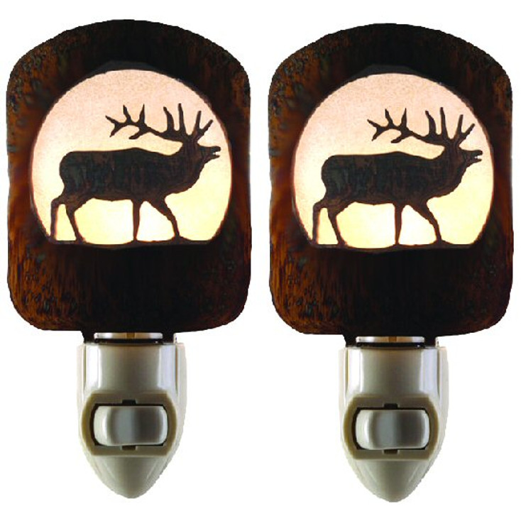 Elk Metal Night Lights, Set of 2