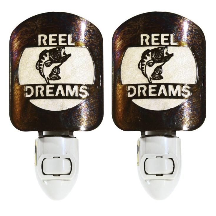 Reel Dreams Fish Metal Night Lights, Set of 2