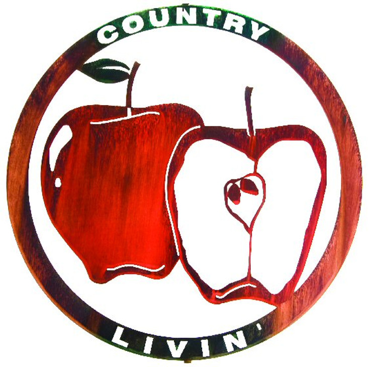 "18"" Country Livin' Apples Metal Wall Art by Joel Sullivan"