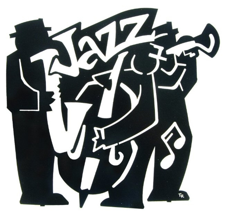 "18"" Jazz Band Metal Wall Art"