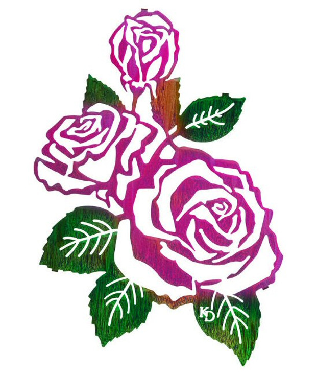 """18"""" Roses Metal Wall Art by Kathryn Darling"""