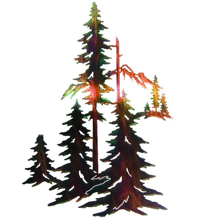 """18"""" Forest with Pine Trees and Mountains Wall Art by Neil Rose"""