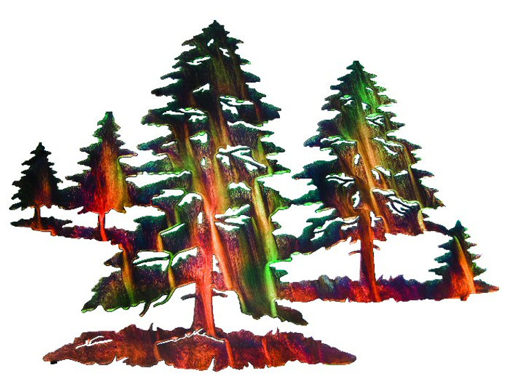 "30"" Forest of Pine Trees Metal Wall Art by Neil Rose"