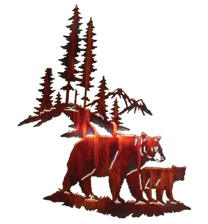 """18"""" Huckleberry Search Bear Metal Wall Art by Neil Rose"""