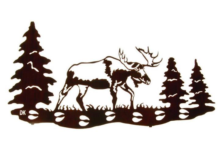 """26"""" Moose Print Trail Metal Wall Art by Daniel Kirchner"""