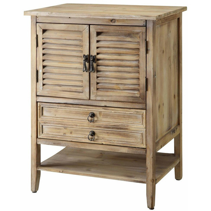 Jackson 2 Door Bedside Weathered Oak Wood Cabinet