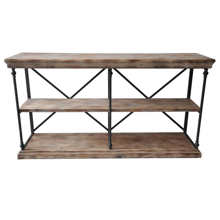 La Salle Metal and Wood Console Table