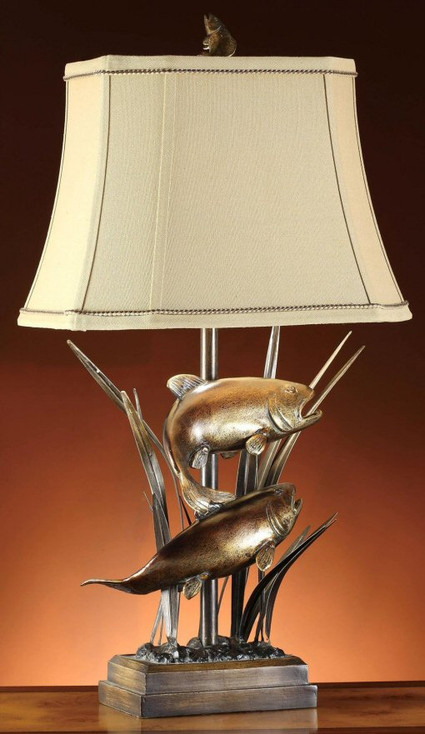 Upstream Trout Fish Table Lamp