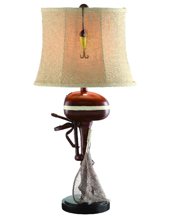 """30"""" Motor Boating with Net & Lure Table Lamp"""