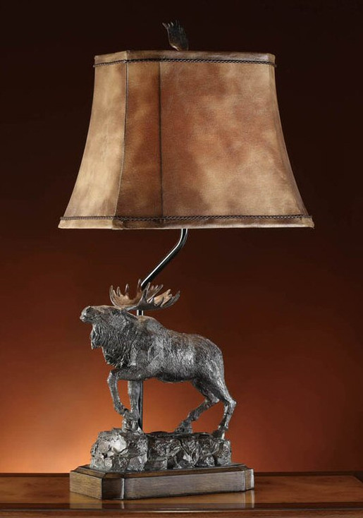 Majestic Moose Table Lamp
