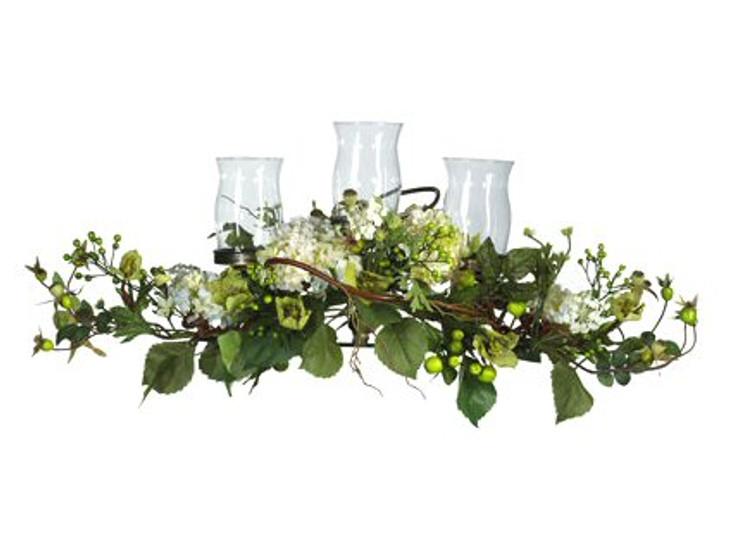 Hydrangea Triple Candelabrum Centerpiece