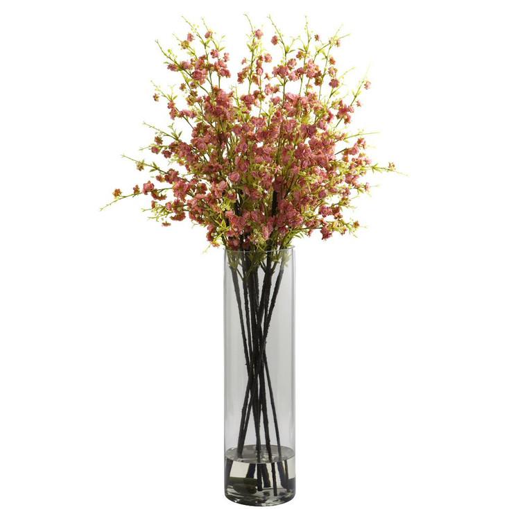 Giant Pink Cherry Blossom Silk Flower Arrangement