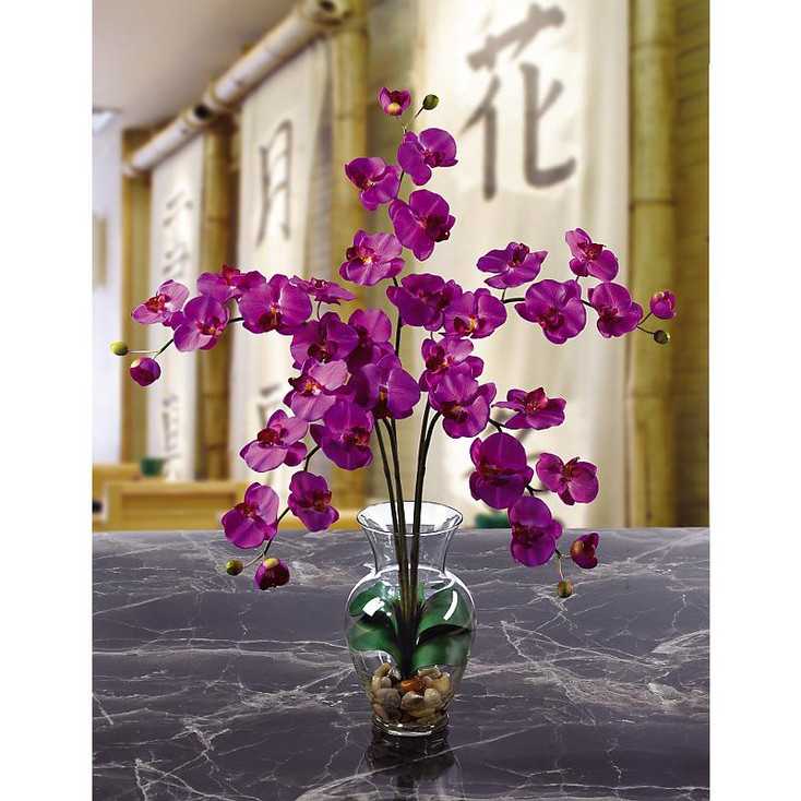 Phalaenopsis Liquid Illusion Silk Arrangement - Orchid