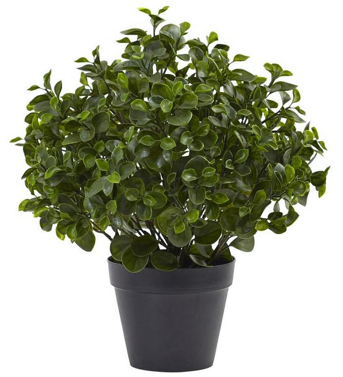 "23"" Peperomia Plant UV Resistant Silk Plant, Indoor Outdoor"