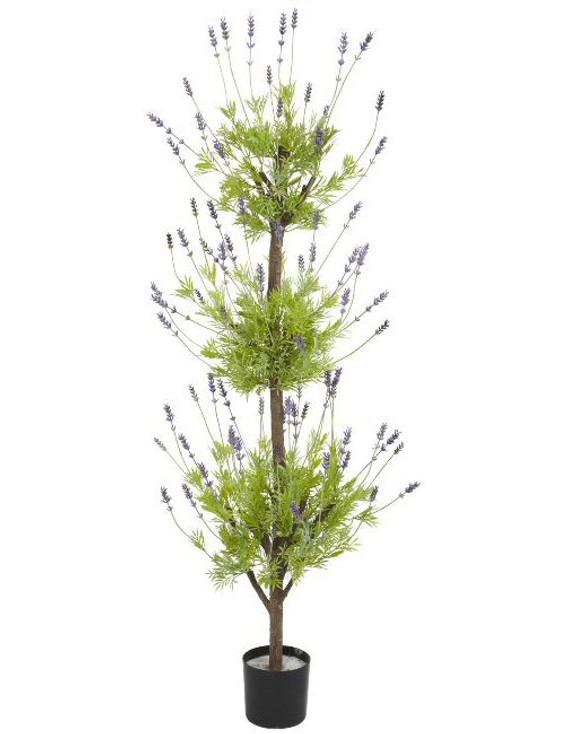 4' Lavender Topiary Silk Tree