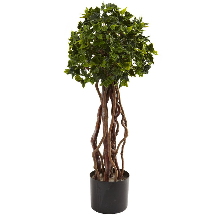 2.5' English Ivy Topiary Silk Tree UV Resistant Indoor Outdoor