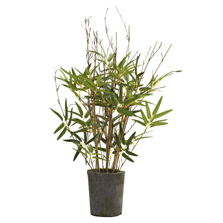 """27"""" Silk Bamboo Tree with Cement Pot"""