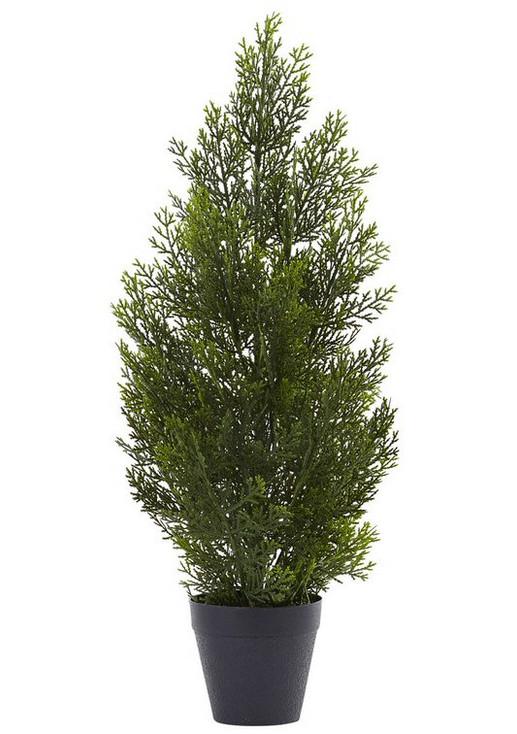 2' Mini Cedar Pine Silk Tree, Indoor Outdoor
