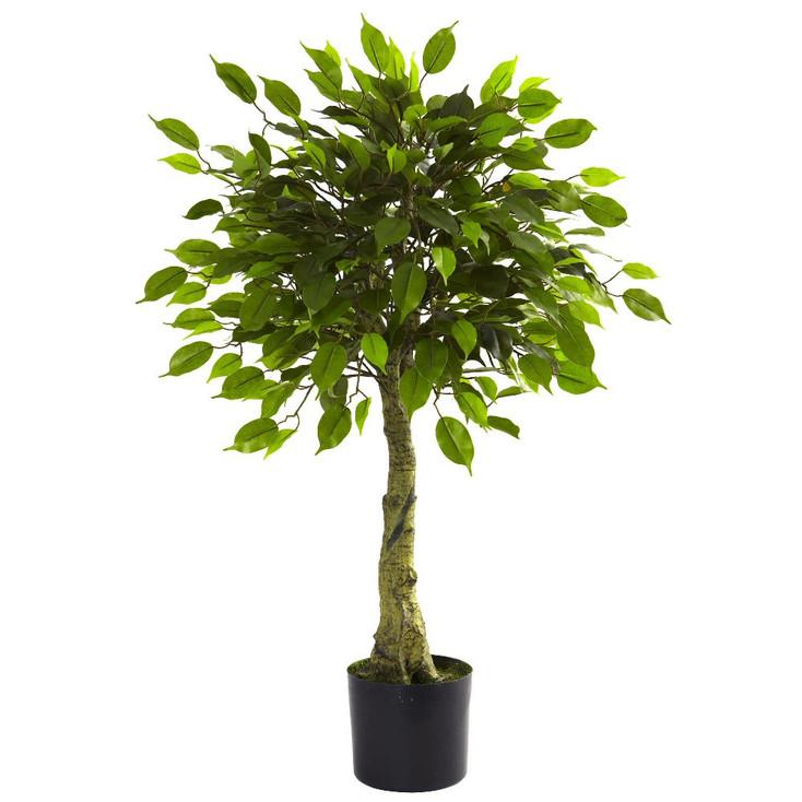3' Silk Ficus Tree UV Resistant Indoor Outdoor