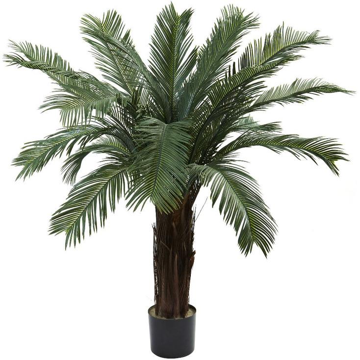 4' Silk Cycas Tree UV Resistant Indoor Outdoor